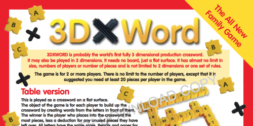 3DXWord Instruction Leaflet