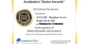 Academics Choice Certificate for 2016 Brain Toy Award (wide)