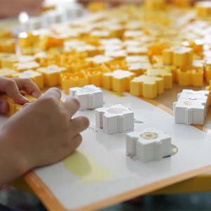 Closeup of Children using Wordphun Workcards
