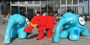 Morphun Brick Elephant in Japan at the Zou-no-mama Event