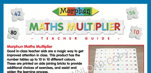Maths Multiplier Leaflet